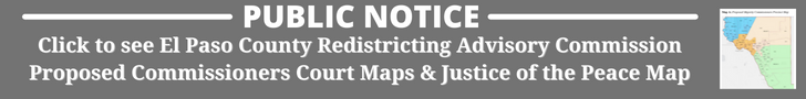 Public Notice: Click to see PDF of Proposed El Paso County Redistricting Maps